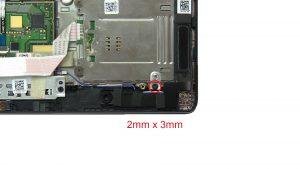 Unscrew SSD mounting bracket (1 x M2 x 3mm).