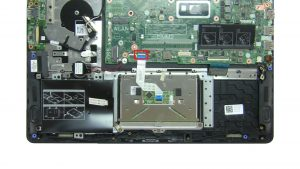 Unscrew and disconnect Touchpad (7 x
