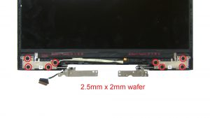 Unscrew and remove Display Hinges (8 x 2.5mm x 2mm).