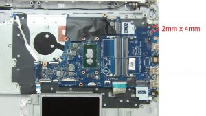 Unscrew and remove Motherboard (1 x