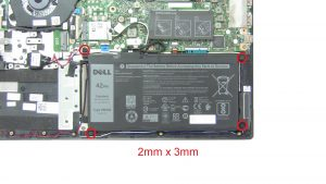 Unscrew and disconnect Battery (4 x