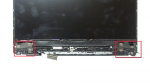 Unscrew and remove Display Hinges (6 x 2.5mm x 5mm wafer).