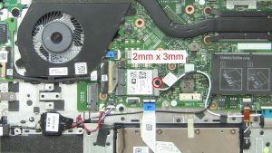 Unscrew bracket and disconnect WLAN Card (1 x