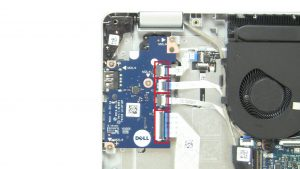 Unscrew and disconnect I/O Board (3 x