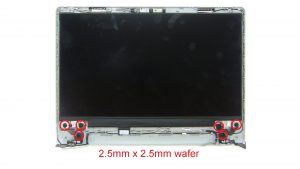 Unscrew and turn over LCD Panel (2 x M2 x 2mm) (2 x