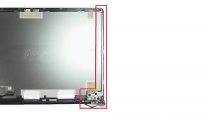 Unscrew and remove Display Hinges (8 x