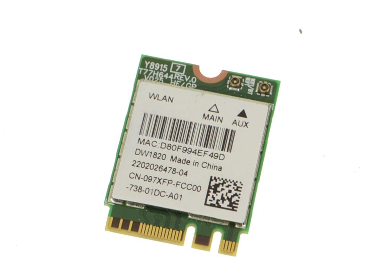 Dell Wireless 1820 DW1820 WLAN WiFi 802.11AC Bluetooth 4.1 M.2 Card NIA01  D4V21